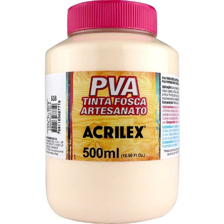 TINTA PVA FOSCA  500ML AMARELO PELE (538) ACRILEX