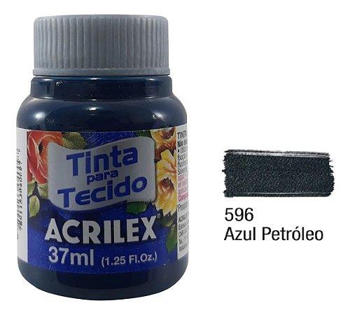 TINTA TECIDO FOSCA 37ML AZUL PETROLEO (596) ACRILEX