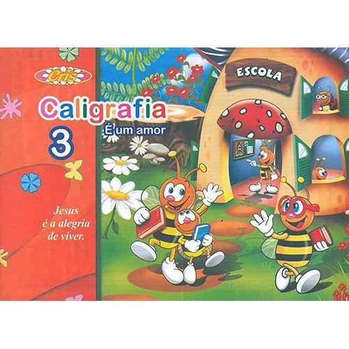 Caderno Caligrafia É Um Amor 3 Bahia Art