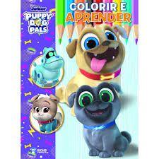 Livro Disney Colorir E Aprender - Puppy Dog Pals