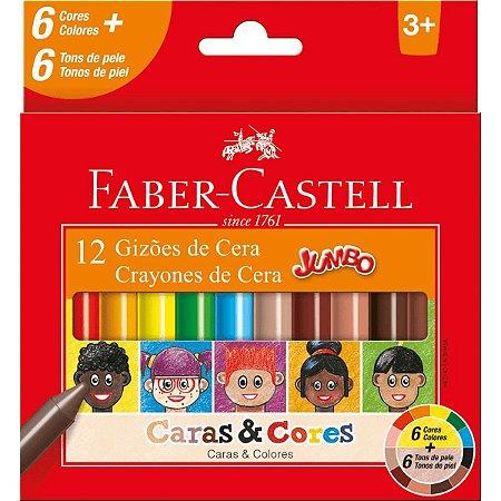 Gizão De Cera C/12 Caras & Cores Faber Castell
