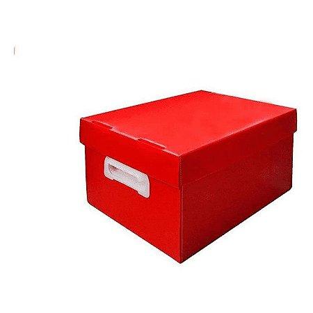 Caixa Organizadora Vermelha Pequena Novaonda Polibras