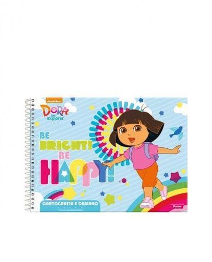 Caderno Cartografia E Desenho 96F Dora Aventureira Foroni