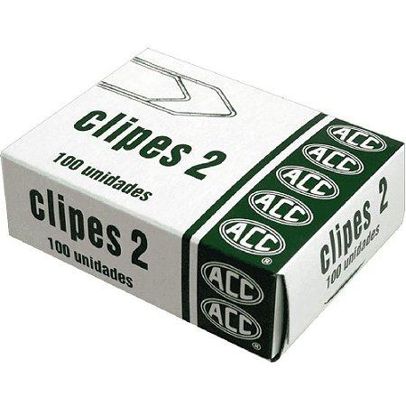 CLIPES ACO GALVANIZADO N°2 CX/100 ACC