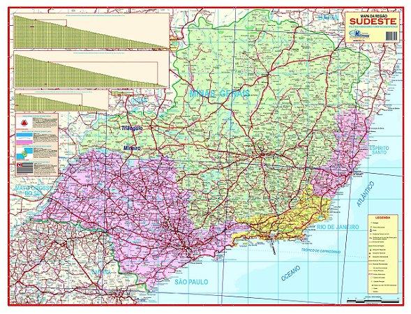 Mapa Regiao Sudeste Escolar Politico Multimapas