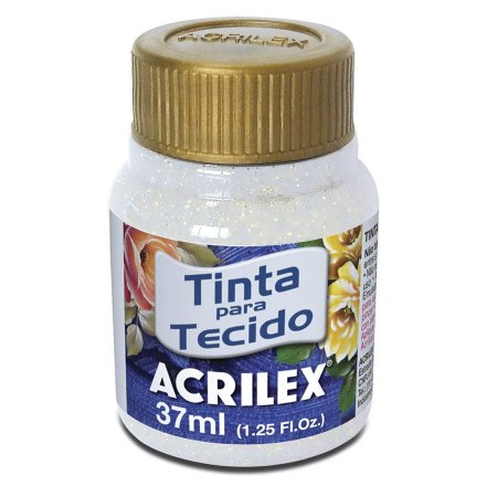 Tinta Tecido Glitter  37Ml Cristal (209) Acrilex
