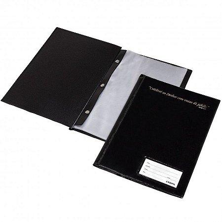 Pasta Catalogo 1/2 Oficio 50 Envelopes Preto Eloplast