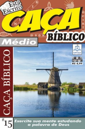 Revista Caca Palavras Biblico 15 Medio Ciranda Cultural