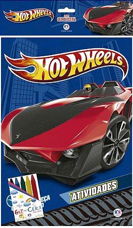 Livro De Colorir Hot Wheels - Com Giz De Cera Ciranda Cultural