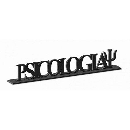 Placa Decorativa Mdf Resinada - Psicologia - Brasfoot
