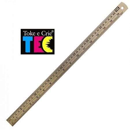 Regua De Metal 40Cm Toke E Crie