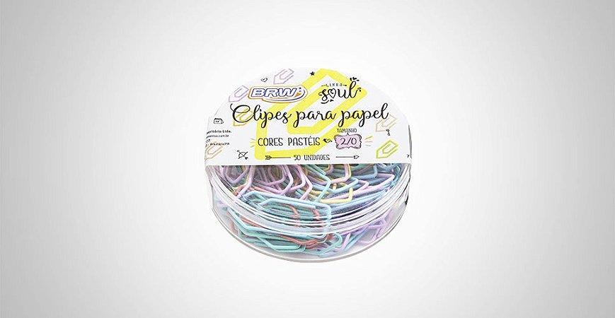 Clipes 2/0 Tons Pasteis 50 Unidades Brw