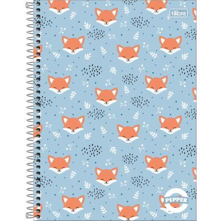 Caderno Universitário Pepper 16 Matérias 256F Capa Sortida Tilibra