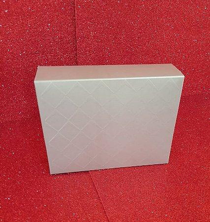 Caixa Retangular Tampa/Fundo New Relevo Ouro P 17X13,5X4,5Cm Cromus