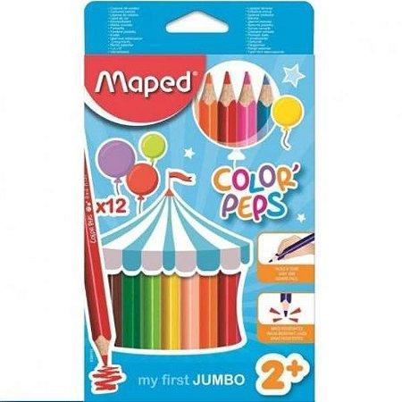 Lapis De Cor Color Peps Jumbo Cx C/12 Cores Maped