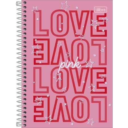 Caderno Espiral 1/4 80F Love Pink Capa Sortida Tilibra