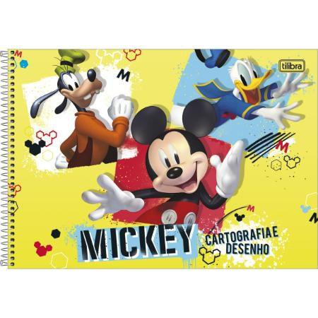 Caderno Cartografia Espiral 80F Mickey Capa Sortida Tilibra