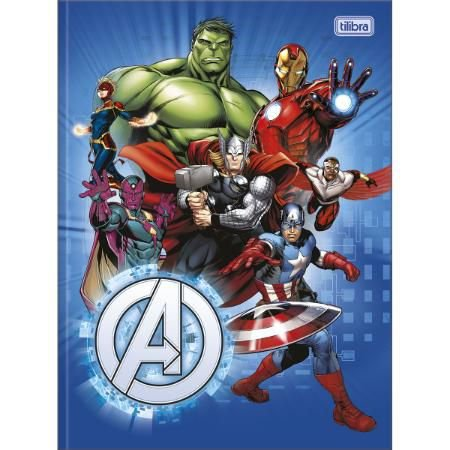 Caderno Brochura Universitario 80F Avengers Capa Sortida Tilibra