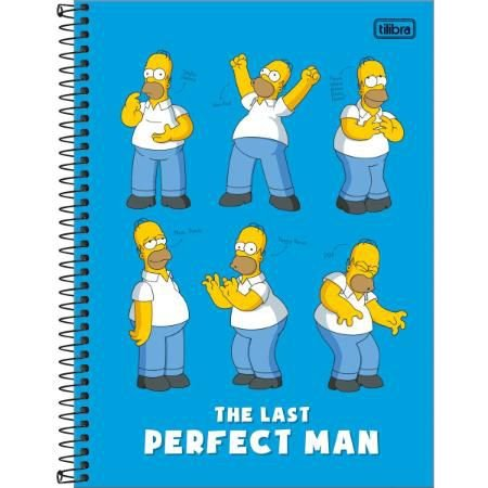 Caderno Universitario 16 Materias 256F Simpsons Capa Sortida Tilibra