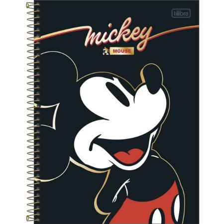 Caderno Universitario 1 Materia 80F Mickey Capa Sortida Tilibra