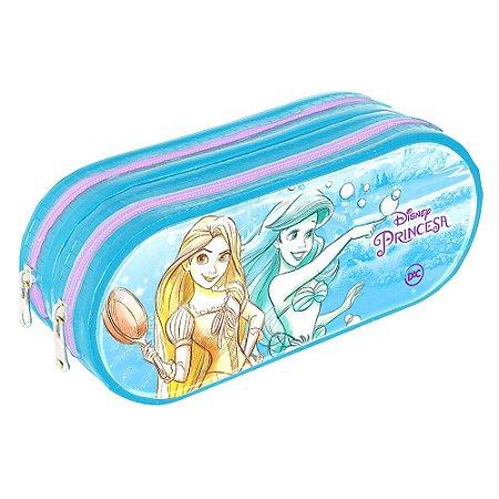 Estojo Escolar Duplo Em Pvc Disney Princesa Dac