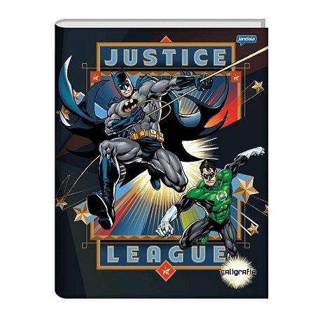 Caderno Brochura Capa Dura Caligrafia Liga Da Justiça 40F Jandaia