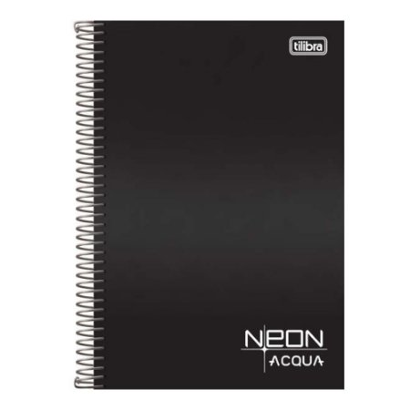 Caderno Espiral 1/4 80F Neon Aqua Capa Sortida Tilibra