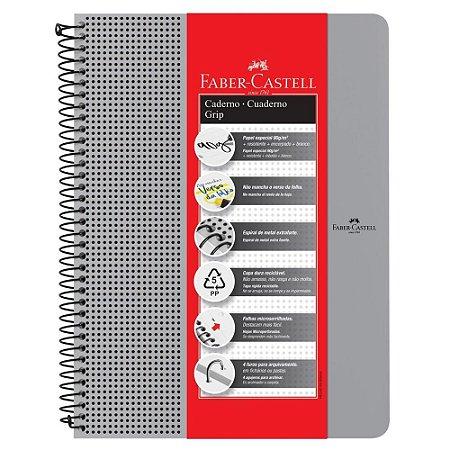 Caderno Grip Pautado 80Fls Cinza Faber Castell