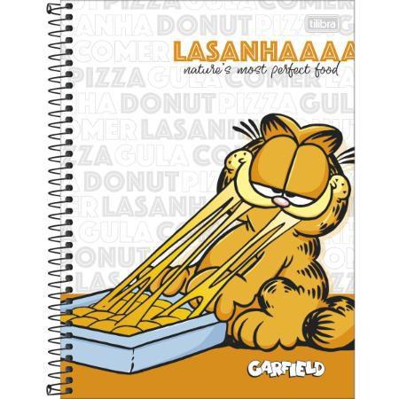 Caderno Universitário 1 Matéria 80F Garfield Capa Sortida Tilibra
