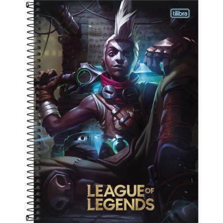Caderno Universitário 1 Matéria 80F League Of Legends Capa Sortida Tilibra