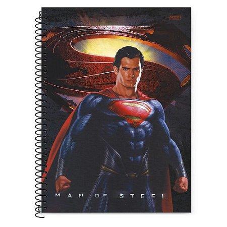 CADERNO UNIVERSITÁRIO 10 MATÉRIAS 200F SUPERMAN CAPA SORTIDA SÃO DOMINGOS
