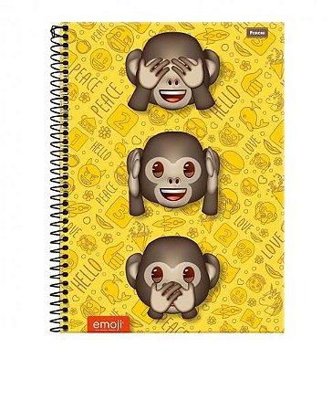Caderno Universitário 12 Matérias 240F Emoji Capa Sortida Foroni
