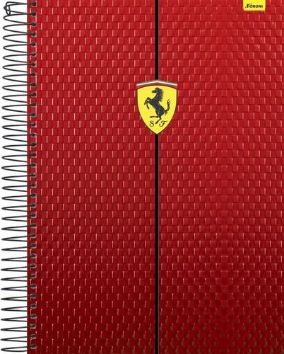Caderno Universitário 12 Matérias 240F Ferrari Capa Sortida Foroni