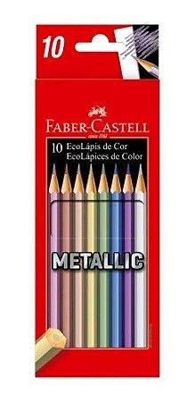 Lapis De Cor 10 Cores Metallic Faber Castell