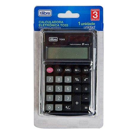 Calculadora Preta Tc03 Tilibra