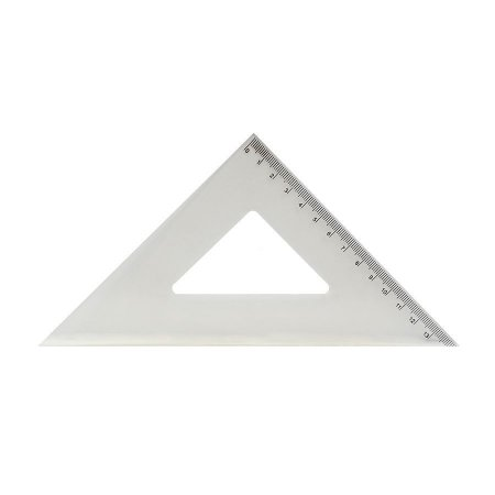 Esquadro 45° 21Cm Cristal Polibras
