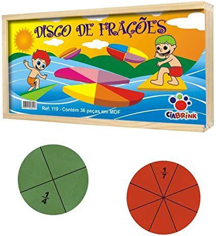 Jogo Disco De Fracoes Ciabrink