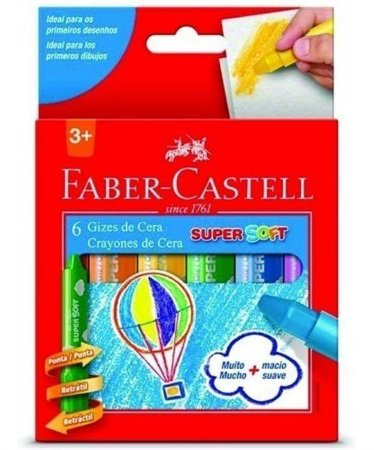 Giz De Cera Super Soft 12 Cores Faber Castell