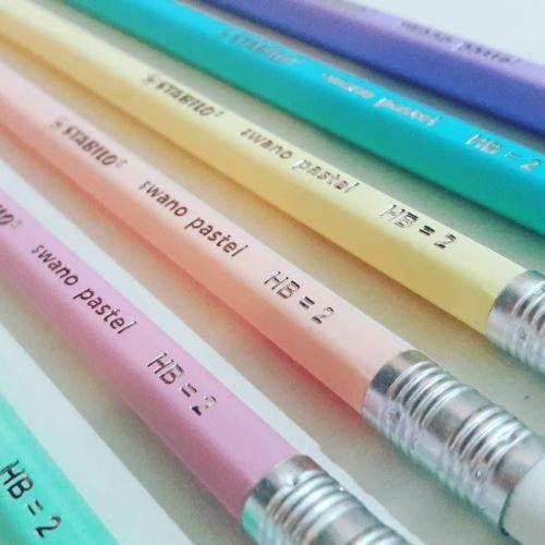 Lapis Grafite C/ Borracha Pastel Colors Stabilo