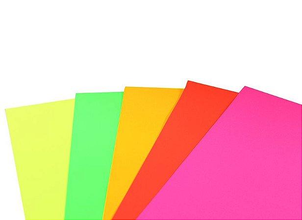 Cartolina Guache Fluorescente 48X66Cm Sortido