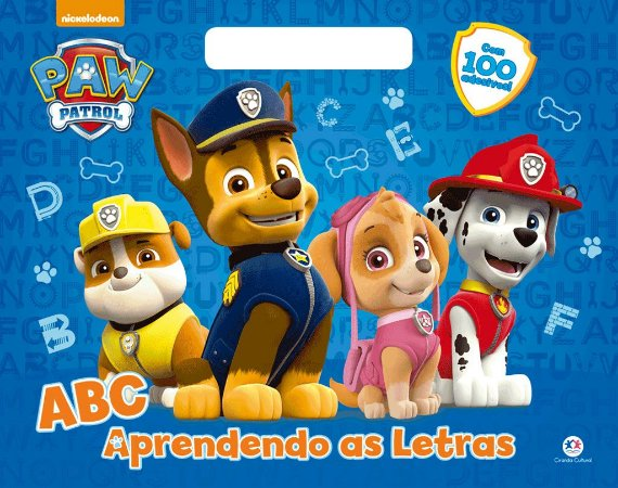 Megabloco Patrulha Canina - Abc Aprendendo As Letras - Ciranda Cultural