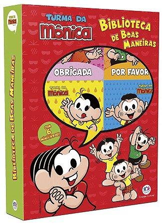 MINIBOX TURMA DA MONICA -BIBLIOTECA DE BOAS MANEIRAS - 6 MINILIVROS CIRANDA CULTURAL