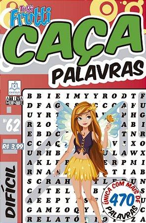 Revista Caca Palavras Tutti Frutti 62 Dificil Ciranda Cultural