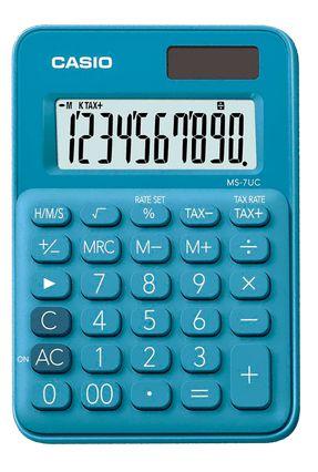 Calculadora De Mesa 10D Ms-7Uc-Lb Azul Casio