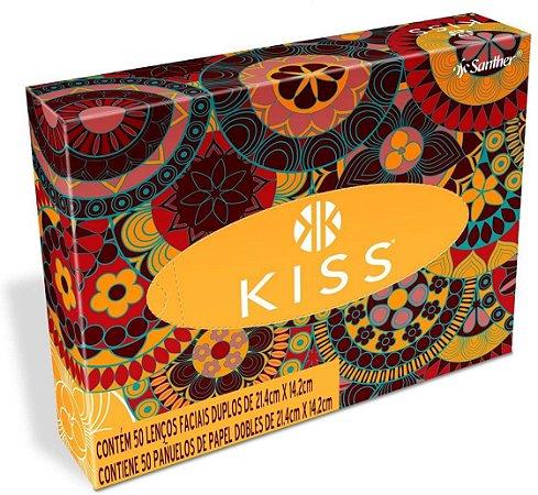 Lenços De Papel Duplos Cx C/50 Und Kiss