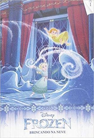 Livro Para Ler E Colorir Frozen Brincando Na Neve Vol.1 Rideel