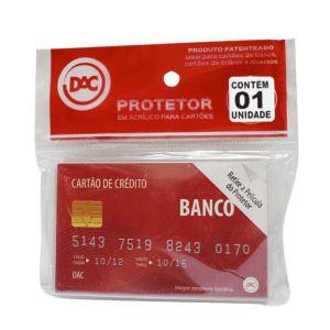 Protetor Acrilico P/Cartao 55Mmx88Mm Dac