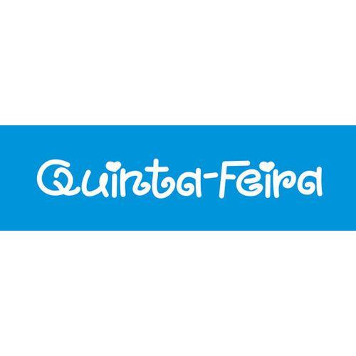 Stencil Epoca Quinta-Feira 8,4Cmx28,6Cm Litoarte