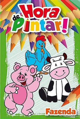 Livro Infantil Hora De Pintar Rideel