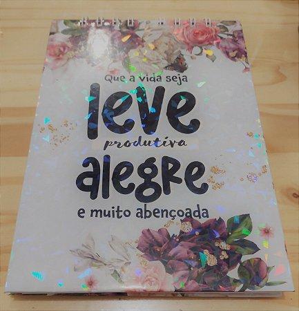 Bloco Sem Pauta Decorado Floral A5 90F Que A Vida Seja Leve